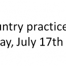 Cross Country practice will start Thursday, July 17th at 4pm