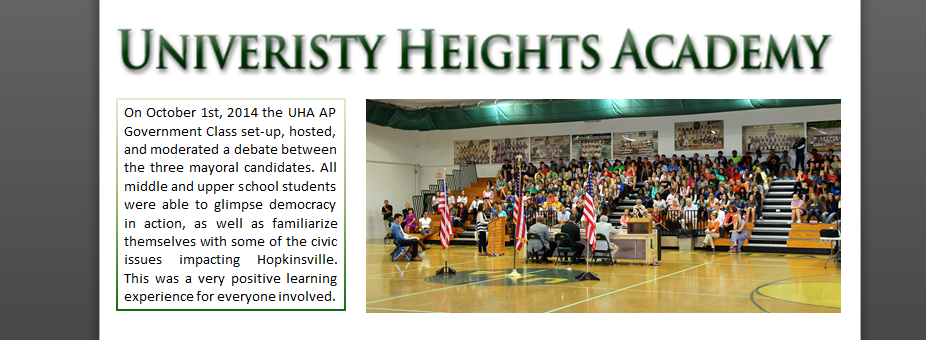 UHA Hosts Mayoral Debate