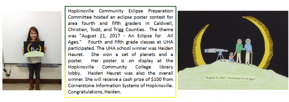 """Congratulations, Haiden, for winning the """"An Eclipse for  All Ages"""" poster contest!"""