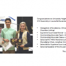 Congratulations to University Heights Academy's KYA team.  A group of five students attended the KYA Assembly in Louisville November 20-22 and earned every award possible for the UHA team!