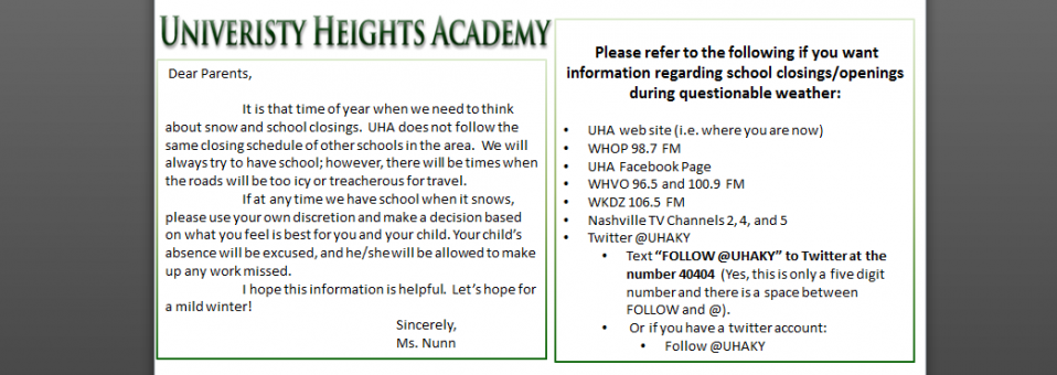 Where to get information on UHA delays and closures.