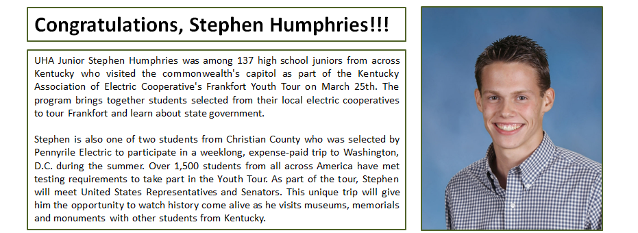 Congratulations, Stephen Humphries!!!