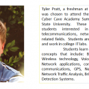 Tyler Pratt, a freshman at University Heights Academy, was chosen to attend the Introductory and Advanced Cyber Cave Academy Summer Camps held at Murray State University.