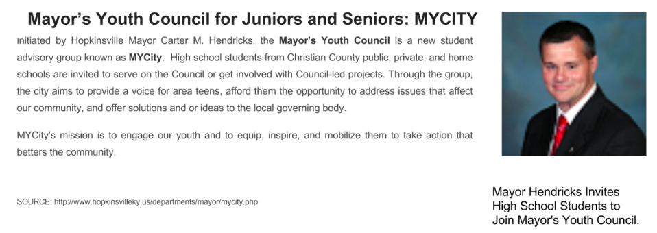 Mayor Hendricks Invites High School Students to Join Mayor's Youth Council