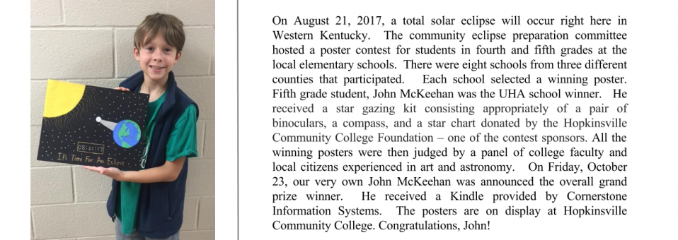 Congratulations to John McKeehan, the overall eclipse poster contest grand prize winner!