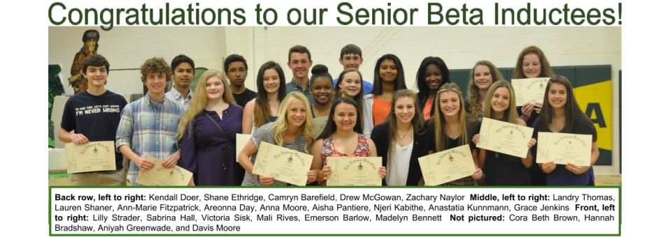 Congratulations to the following students who were inducted into the University Heights Academy Senior BETA Club!