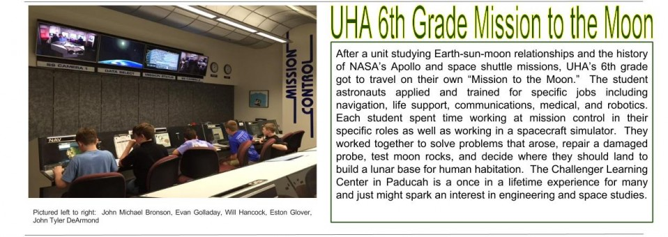UHA Mission to the Moon (Note: They didn't actually go to the moon;)