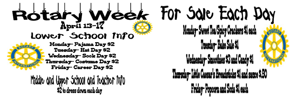 Rotary Week Events: April 13th-17th